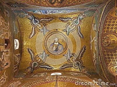 Palermo soffitto della navata laterale della cattedrale for Soffitto della cattedrale di legno