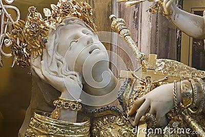 Palermo - Statue of Santa Rosalia patron saint of Palermo
