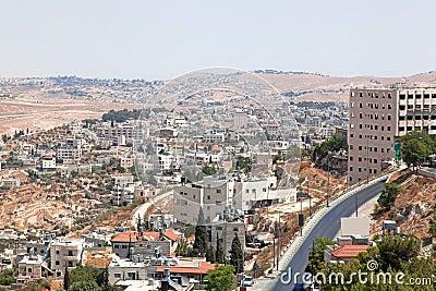 Palestin. The city of Bethlehem
