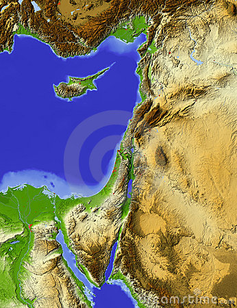 Palestine, relief map