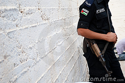 Palestinian Authority Police Editorial Photography