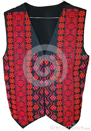 Palestinian Bedouin Embroidered Vest Stock Photo Image
