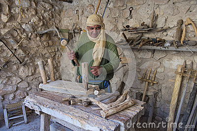 Palestinian carpenter Editorial Photo