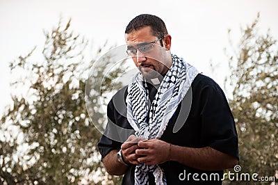Palestinian Christian priest Editorial Stock Photo