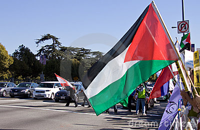 Palestinian protest flag Editorial Stock Photo