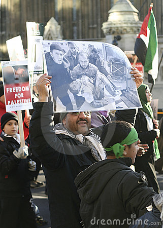 Palestinian protesters in London Editorial Stock Image