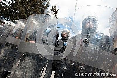 Palestinian riot police Editorial Image