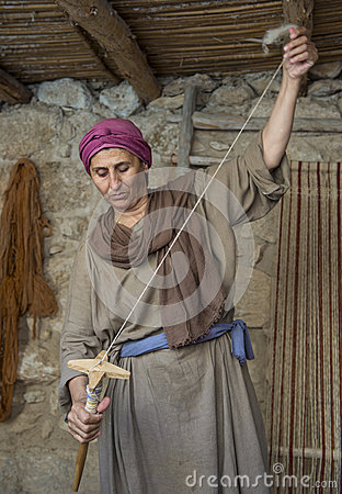 Palestinian weaver Editorial Photo