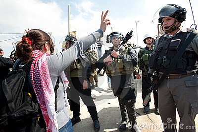 Palestinians march on International Women s Day Editorial Stock Photo