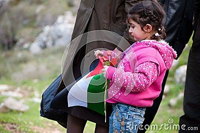 Palestinians pray against Israeli separation wall Editorial Image