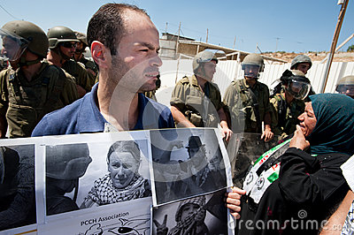 Palestinians remember activist Rachel Corrie Editorial Stock Photo
