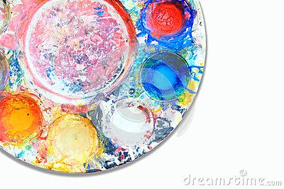 Palette with multiple colors