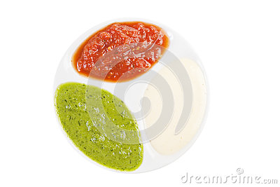 Palette of sauces