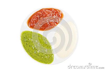 Palette of sauces