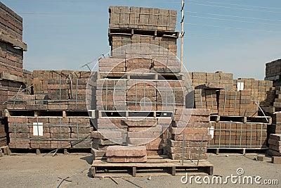 Palettes de brique