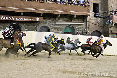 Palio of Siena Editorial Photo