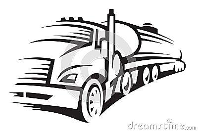 Paliwowa ciężarówka