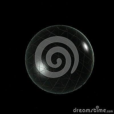 3D Logo Objects Glass Ball