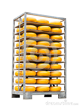 Pallet with cheese