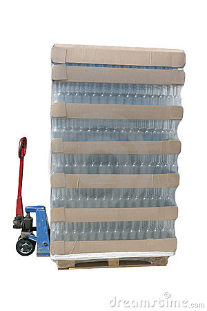 Pallet jack with a pallet