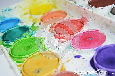 Pallet Of Watercolor Paints Free Public Domain Cc0 Image