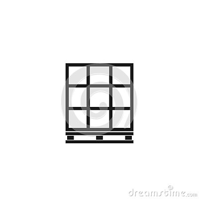 Free Pallet With Boxes Outline Icon Stock Images - 125539054