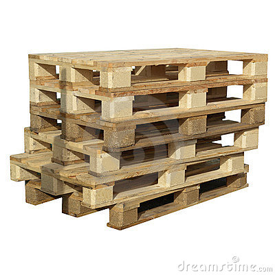 Free Pallets Isolated Royalty Free Stock Photography - 10590097