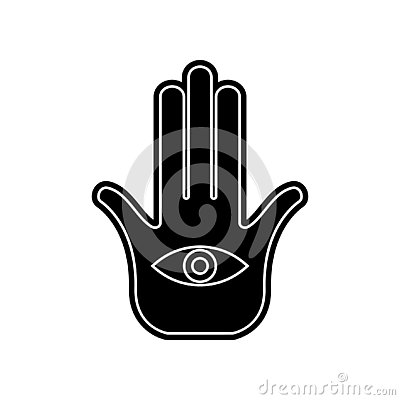 palm and hand icon. Element of Arabian for mobile concept and web apps icon. Glyph, flat icon for website design and development, Stock Photo