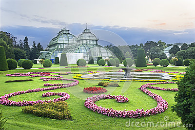 Palm house in Schonbrunn, Wien
