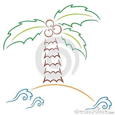 Palm at island