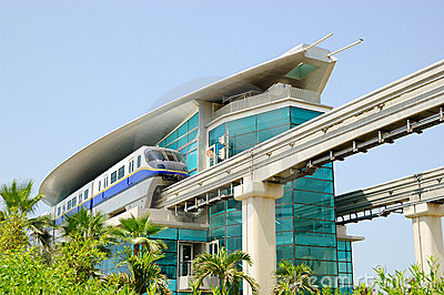 The Palm Jumeirah monorail station