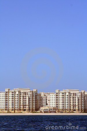 The Palm Jumeirah, Shoreline Apartments Stock Images - Image: 11869744