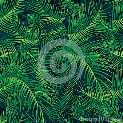 Free Palm Leaf Green Full Page Seamless Pattern Royalty Free Stock Photography - 72660827
