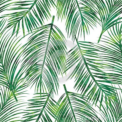 Free Palm Leaf Seamless Pattern Royalty Free Stock Photos - 52688678