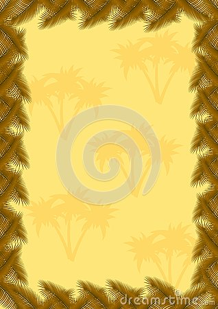 Palm leaves frame