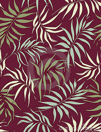 Palm leaves- seamless pattern