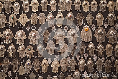 Palm shaped amulets hand of Fatima