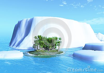 Palm Tree And Iceberg Stock Images - Image: 22274324
