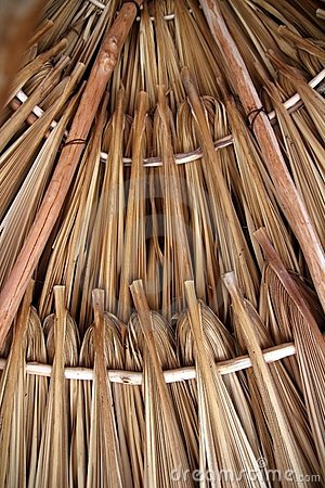 Free Palm Tree Leaves In Sunroof Palapa Hut Roofing Stock Image - 19292171