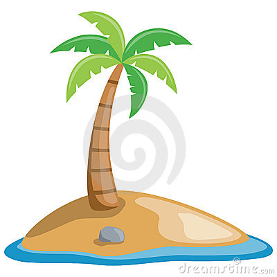 Palm Tree on a Little Island