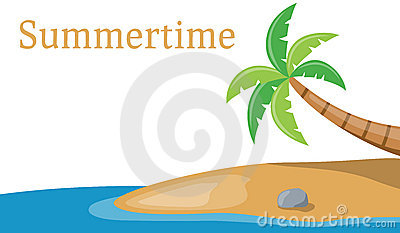 Palm Tree on the Sea Banner