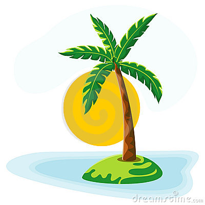 Palm Tree Sea Sun And Sky Stock Image - Image: 20318031