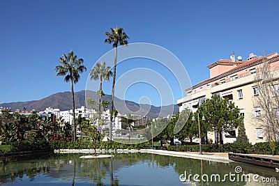 Palm trees in Estepona, Spain