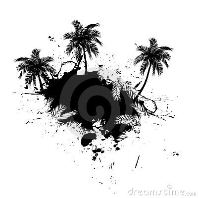 Free Palm Trees Grunge Vector Stock Photography - 8219802