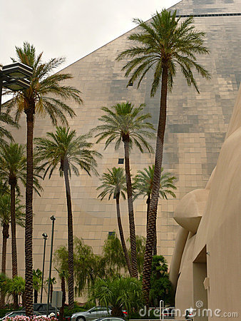 Palm trees and Luxor in Vegas Editorial Image