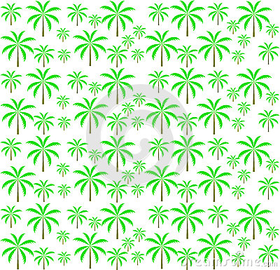 Palm trees seamless pattern. Vector illustration.