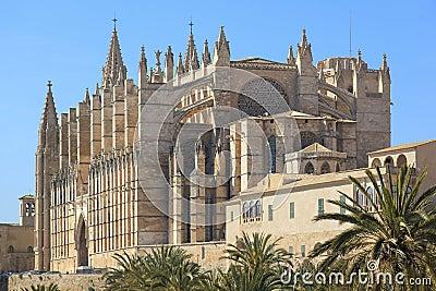 Palma Cathedral City Walls Majorca Spain