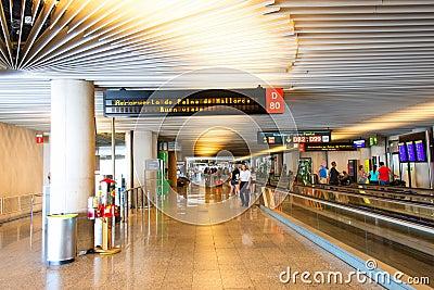 Palma de Mallorca Airport hall Editorial Photography