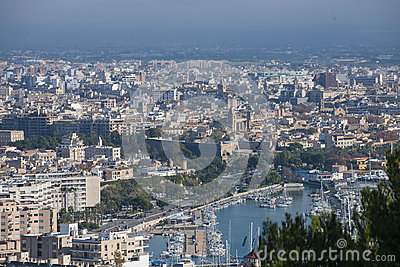 Palma de Mallorca cityscape, Spain