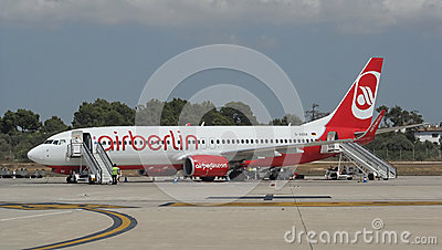 Palma de Mallorca, Spain: Air Berlin Boeing 737-800 Editorial Image